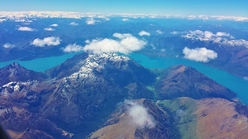 Flying away from New Zealand