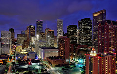 Downtown Houston - Late Blue Hour