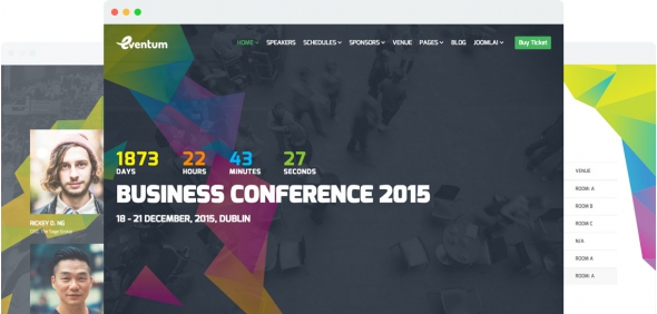 Eventum v1.2 – Responsive Event & Conference Joomla 3.x Template