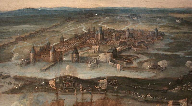 La Rochelle during the 1628 siege, detail of the Surrender of La Rochelle