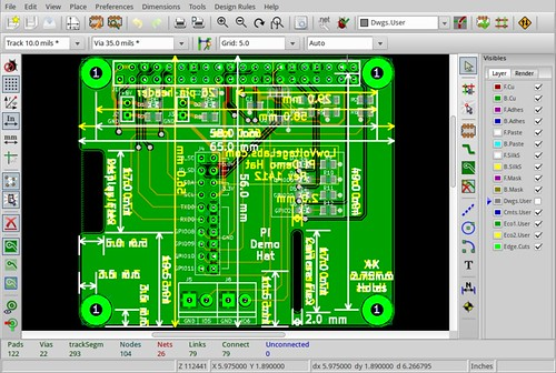 Low Voltage Labs Pi Demo Board in KiCAD