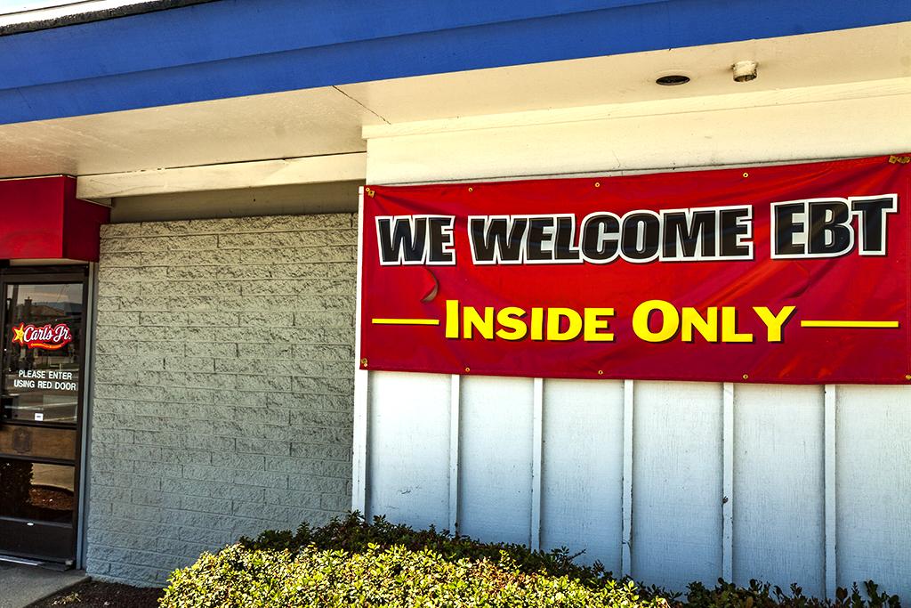 WE-WELCOME-EBT-banner-at-Carl's-Jr--San-Jose