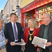 Minister Stores helps celebrate the completion of the Ballymoney revitalisation works - 3 June 2015