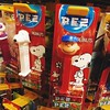 Snoopy and Charlie Brown PEZ:dog::baby::lollipop::candy: As there is only one Charlie Brown PEZ left n I let the little girl get it :grimacing: I may get it if I see it restock again #charliebrown #snoopy #pez #candy #toy #food #peanuts #character #cute