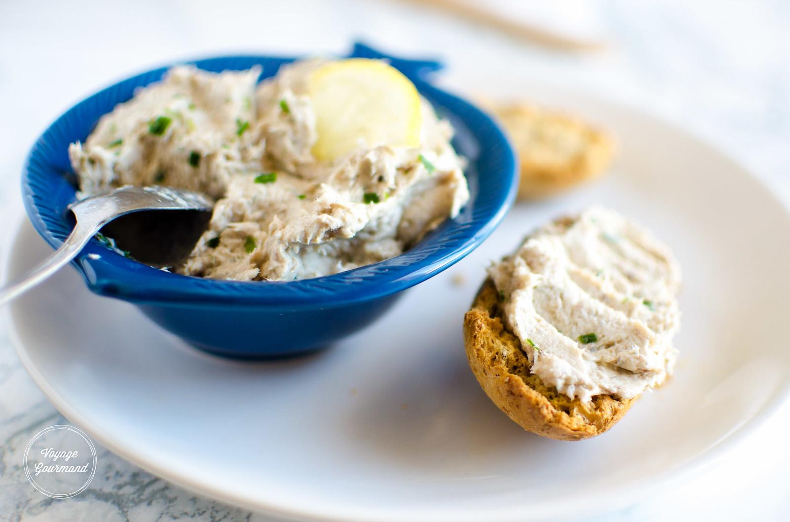 Rillettes de sardines au citron, ail et fines herbes | Voyage Gourmand