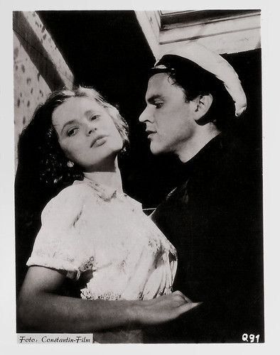 Ulla Jacobsson and Folke Sundquist in Hon dansade en sommar (1951)
