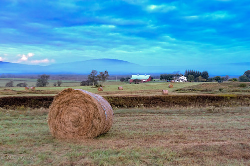 westvirginia autumn background barn clouds fall field haybales house landscape landscapemountain sunrise trees