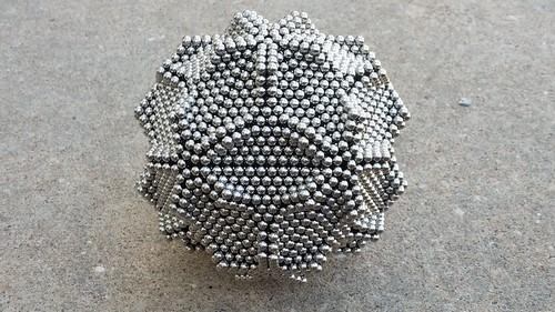 Icosohedron flower ball  (4400 spheres ) Icosohedron flower ball (4400 zen magnets ): https://youtu.be/Ya1xyBsLLP0