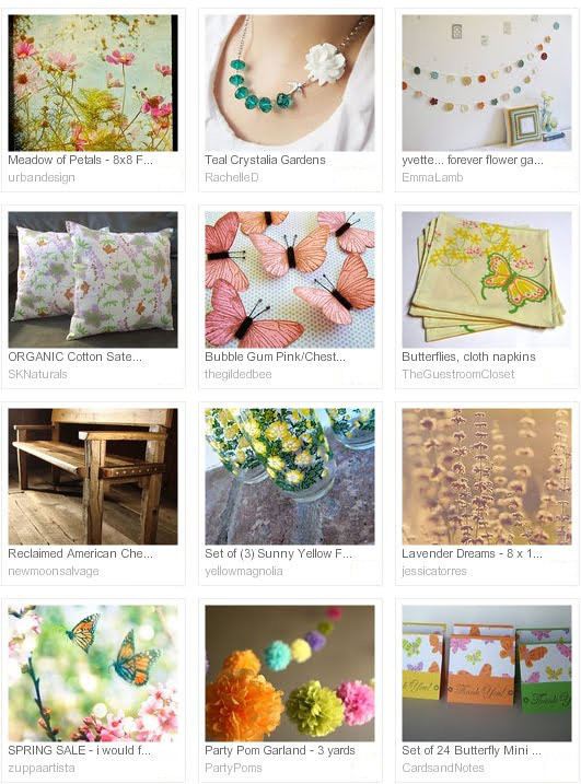 Garden Party, Etsy treasury by Jessica Torres | Emma Lamb