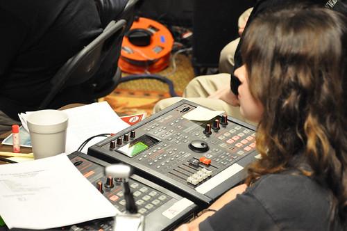 Rachel Bowman runs recorded SFX.