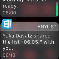 My wife just sent me the shopping list to my #applewatch ;)