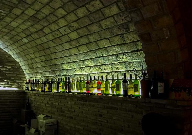In the wine cellars at Skouras