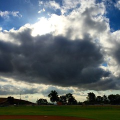 #clouds over the #littleleague field