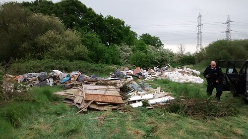 Flytipping prosecution warning by Sutton Council