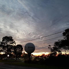 Tonight's sunset over the Big Golf Ball, Kingston Heath.