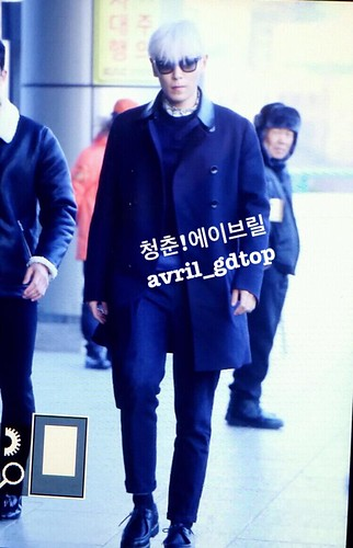 Big Bang - Gimpo Airport - 15jan2015 - TOP - Avril - 01