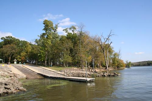 The Seneca Illinois City Boat Launch in early Autumn