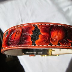 #handmade #leathercollar #customcolor