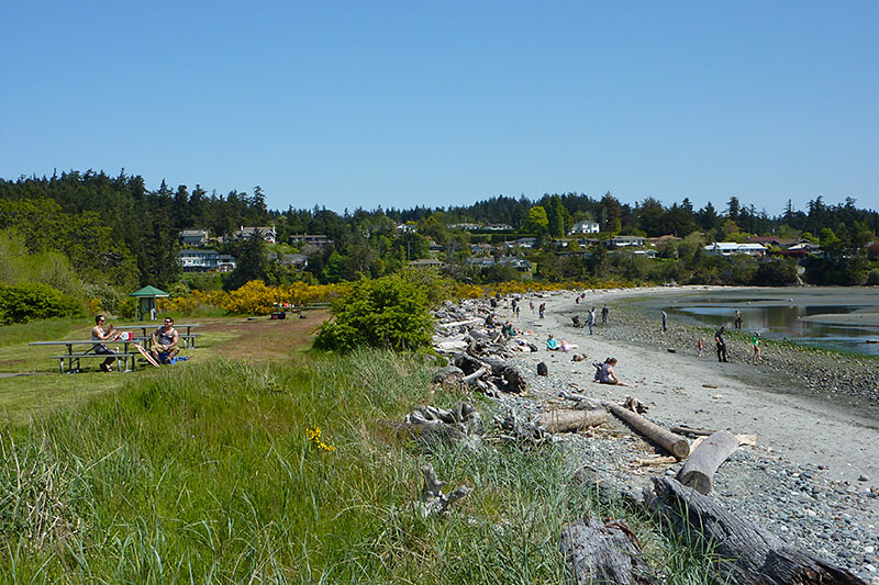 Beach at Witty's Lagoon Park, Metchosin, Victoria, Vancouver Island, British Columbia