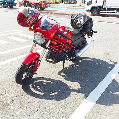 艦これキリつけてプチツーリング! コンビニでキューケー #Japan #Japanese #motorcycle #monster400 #ducati