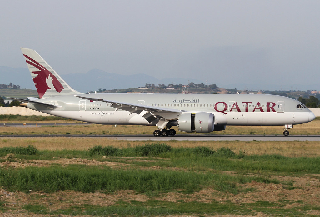 Slowing down on RWY16R inbound from Doha DOH. Delivered 05/2014.