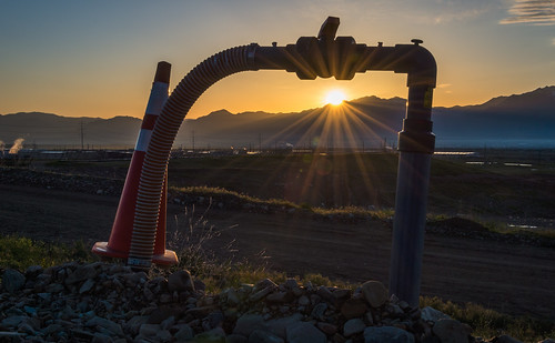 Sunrise Through a Methane Gas Pump by Geoff Livingston
