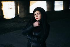 Alina under bridge