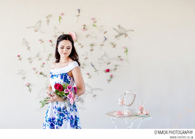 wedding flower wall used as backdrop