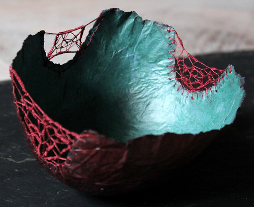 Crocheted Tissue Paper Bowl by Patricia Chemin
