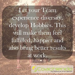 Do something different today. Diversity is important to note feel bored, plus: it's good for your brain. Go out and spread your wings!  #team #diversity #work #balance #coachiendo   You like this post? You can find more motivation and inspiration on www.c