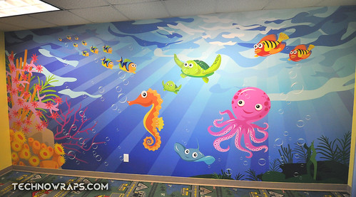 Custom designed and printed wall wrap graphics