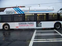 2007 NFI C40LF MARTA Bus#2463 On The 75-Tucker
