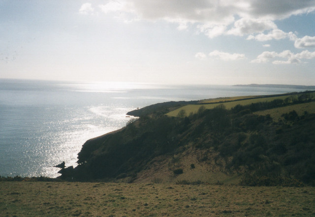 The South West coast path looking to Stoke Flemming