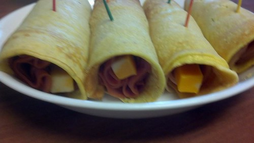 Savory Crepes - Cold meat, cheese stick, and spicy mustard!