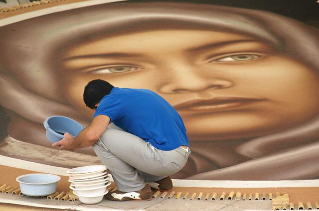 One of my faves, Alfombristas at work, Corpus Christi, La Orotava, Tenerife