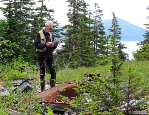 Robert L. DeVelice, a vegetation ecologist on the Chugach National Forest monitoring invasive plants