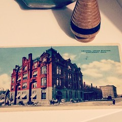 My mum came home from #cincinnati with lots of treasures, including this postcard from 1919. #vintage #ephemera #usa