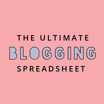 The Ultimate Blog Organisation Spreadsheet