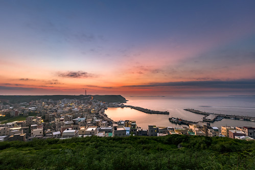 taiwan 台灣海峽 澎湖 菊島 外峖漁港 sunrise