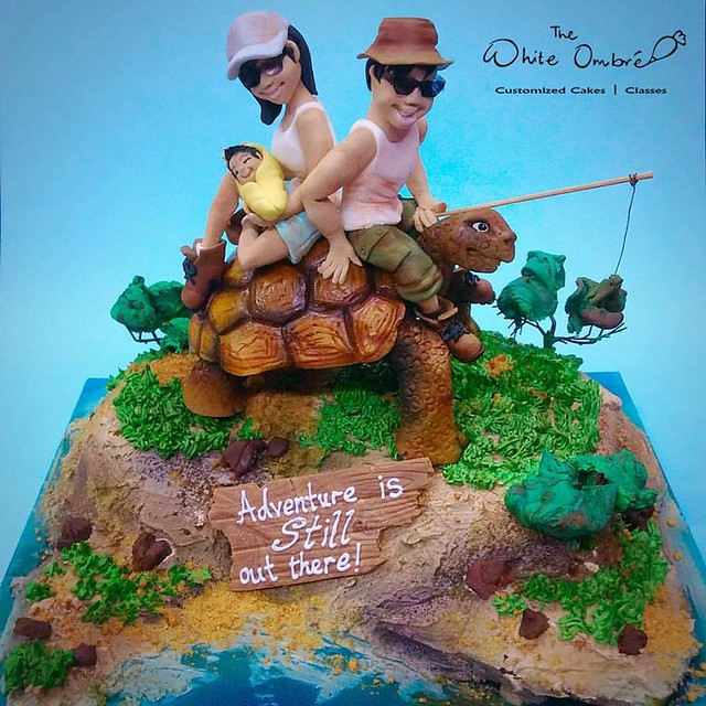 Galapagos Adventure Cake by The White Ombré