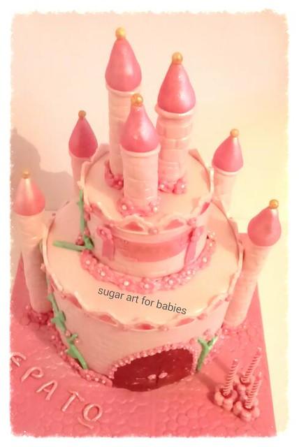 Castle Cake by Rosalie sugar art