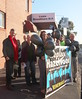 Outside the office - Replace Hazelwood vigil at Lizzie Blandthorn MP Pascoe Vale Office