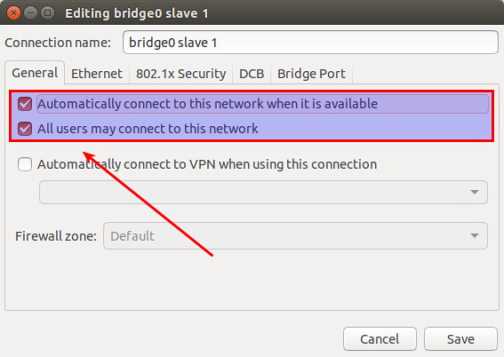 How to configure a Linux bridge with Network Manager on