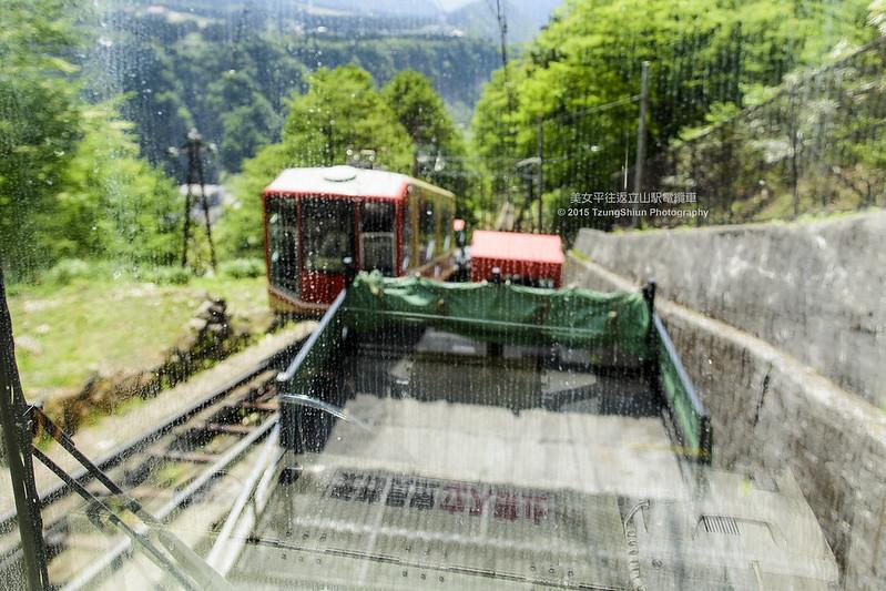 往返美女平與立山駅的電纜車