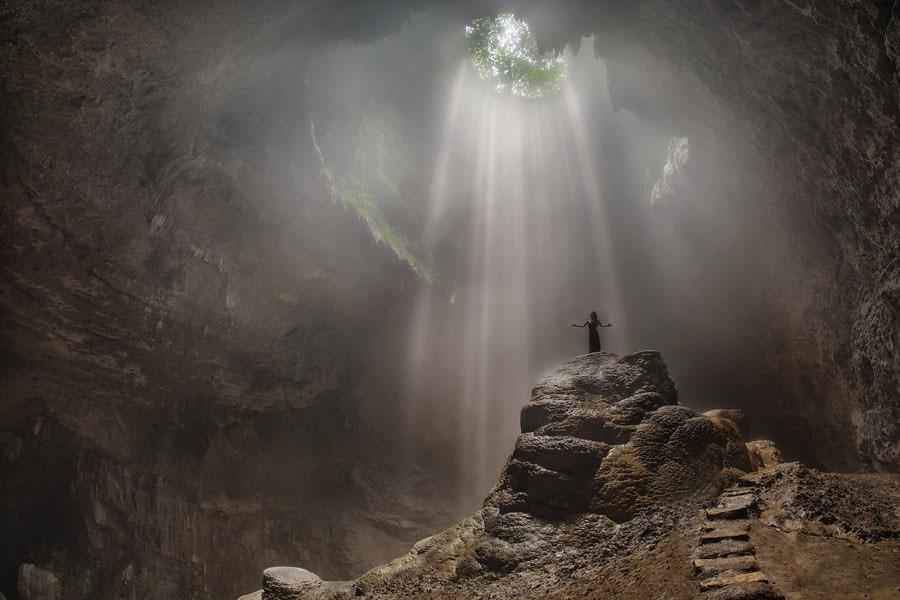 23. Jomblang cave via Zexsen Xie