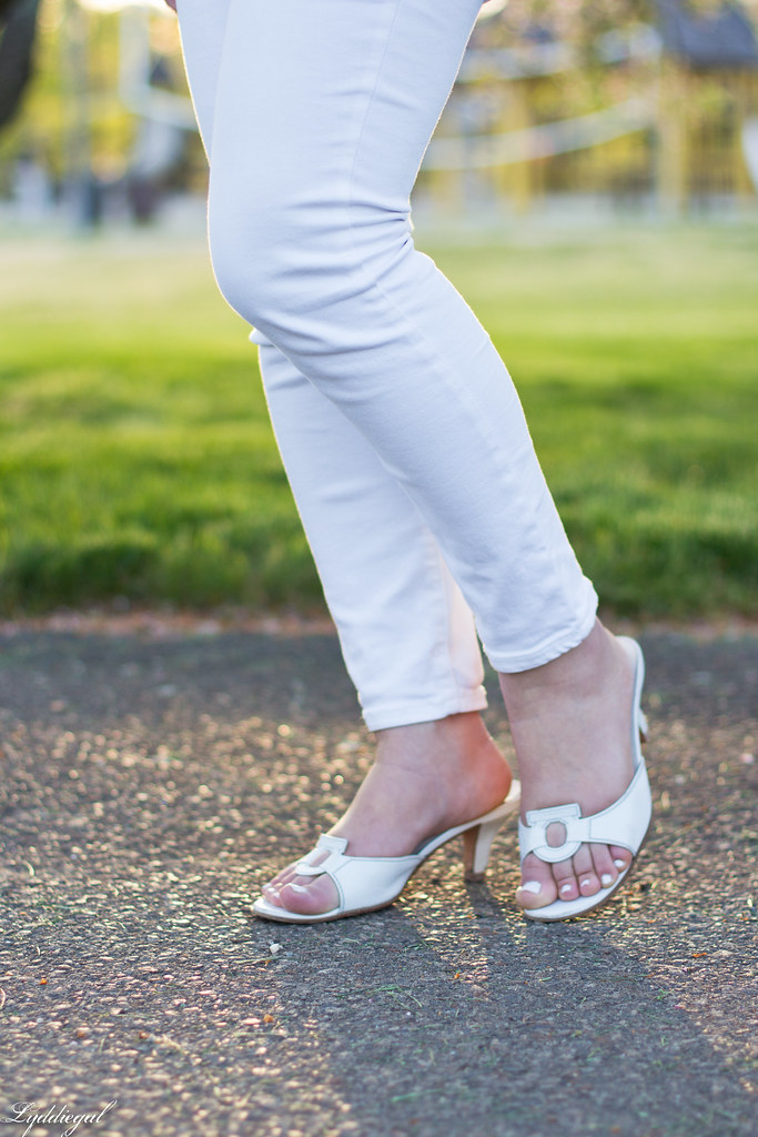 striped peplum top, white jeans, straw clutch-4.jpg