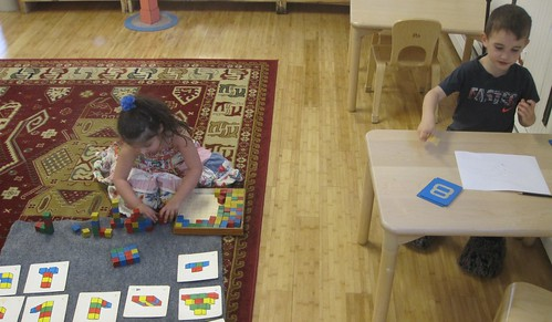 building block patterns & number practice