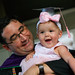 Evening Part Time Law program graduate Brian Morrow with five-month-old daughter Adeline who received her own 'certificate' honoring her for sacrificing time with dad so he could finish law school. Twenty-one keiki of UH School of Law graduates received certificates of thanks, a tradition at the school.