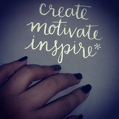 Create. Motivate. Inspire <3  Thanks @mjrimas for the nail polish! Haha!  #ErinCondrenDesigns #LifePlanner