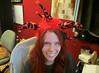 20150523 - yardsale haul - IMG_0440 - jester hat on Carolyn